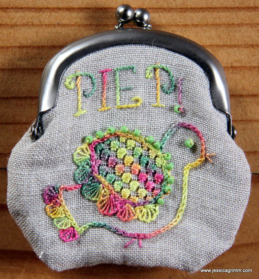 Schwalm embroidery purse