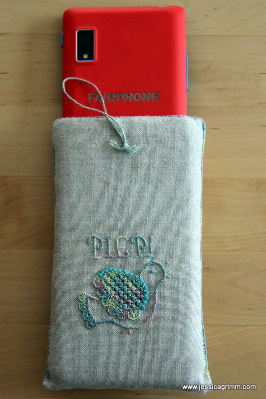 Embroidered case for Fairphone 2