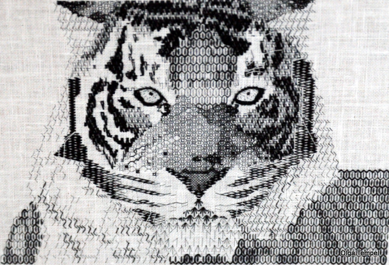 Blackwork Tiger by Olga Tempel