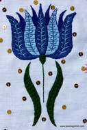 Campanula embroidered linen vestments from Tyrol