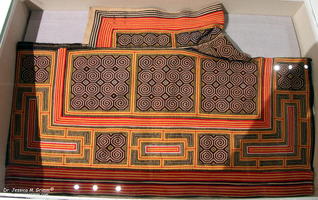 Embroidered shawl by the Miao people of China