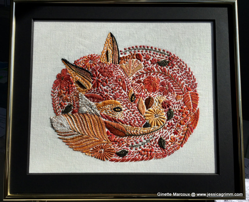 Millie Marotta embroidered fox