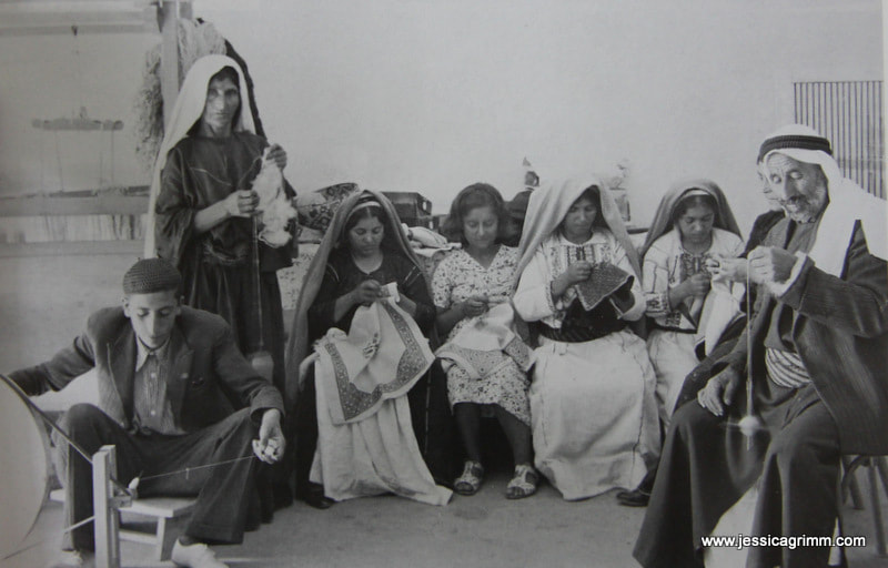 One of the first embroidery centres in Ramallah