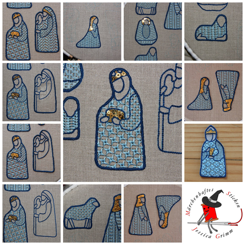 Schwalm embroidery nativity