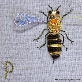 Goldwork embroidery by Monika Wilms